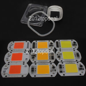 Led Cob Grow Chip Led lens Reflector 50w 30w 20w 110v 220v For Led Flood Light