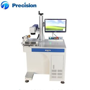 High Quality Low Price Jewelry Metal Fiber Laser Marking Machine With Rotary