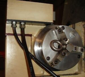 Jones Shipman 9 Cnc Rotary Table 8 3 Jaw Chuck With Tail Stock