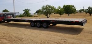 Childers Mfg Goosneck 40ft Flatbed Trailer