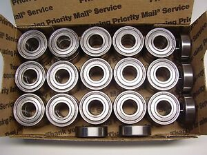 50 Pcs Peer 6203z c3 Deep Groove Ball Bearing Single Row Double Shielded