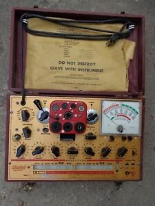 Hickok 6000a Vintage Tube Tester With Original Owner s Manual Charts