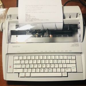 Brother Gx 6750 Daisy Wheel Electronic Typewriter 12 87 Paper Capacity word Out