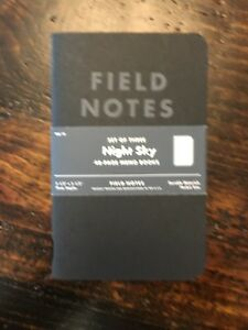 Field Notes Night Sky 3 Pack opened