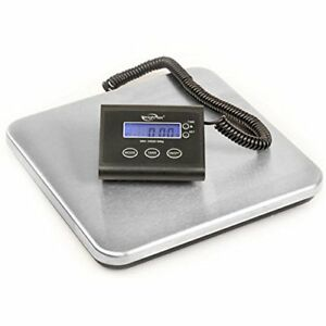 Shipping Postal Scale Wired Remote Lcd Display Stainless Steel 330lb Mailing New