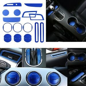 18pcs Interior Accessories Dash Vent Gear Shift Cover For Ford Mustang 2015 18