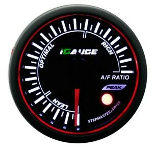 Air Fuel Ratio 52 Mm Auto Electrical Gauge Analog 3 Color Led Warning Peak