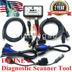 Inline 6 Data Link Adapter Full 8 Cable Heavy Duty Diagnostic Scanner Tool In Us