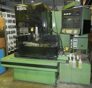 Sodick A500l Wire Edm Mark 21 Control Tooled Xlnt Condition 5850