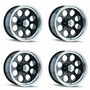 Set 4 16 Ion 171 Black Machined Lip Wheels 16x8 6x5 5 5mm Lifted Chevy 6 Lug