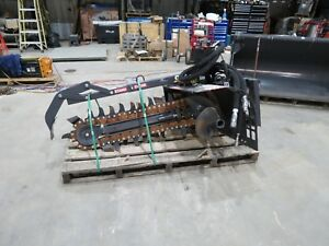 Bradco Case 640 Skid Steer Trencher High Flow Demo Unit
