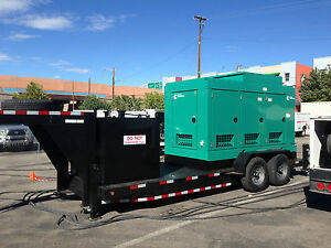 New Cummins 300dqhab 270kw Prime Rated Mobile Diesel Generator Gooseneck Trailer