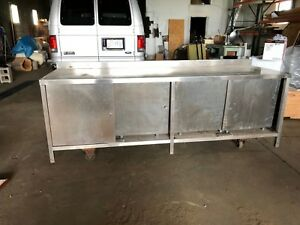 8 Foot Heavy Duty Stainless Steel Kitchen Prep Table With Cabinet 96 X 30