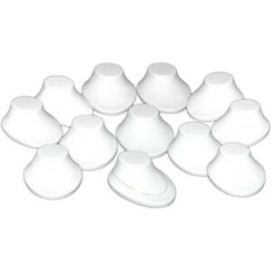 12 White Plastic Necklace Bust Displays