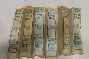 Lot Of 120 Falcon 1007 Petri Dish 20 bag 60x15mm Becton Dickinson Labware