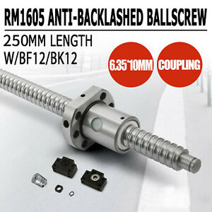 1pc Anti Backlash Ballscrew Rm1605 250mm c7 1 Set Bk bf12 coupler Stored In Us