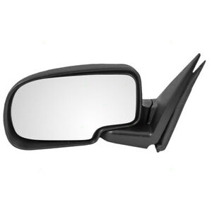 New Drivers Manual Side Mirror Glass Housing Textured Gmc Chevy Suv Pickup Truck