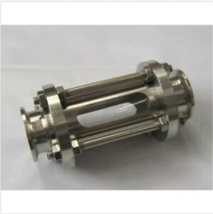 New Stainless Steel Flow Sanitary 304 With Steel Cage Sight Glass 51mm Tri Clamp