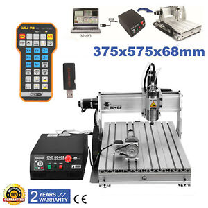 6040 4 Axis Usb Cnc Spindle 3d Router Engraving Milling Machine Remote Control
