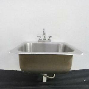 Advance Tabco 19 X 19 Stainless Steel Drop In Hand Sink W Faucet Wash Bowl