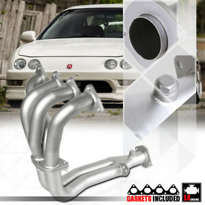 Silver Coated Ss 4 2 1 Exhaust Header Manifold For 94 01 Integra Gs ls rs B18b1