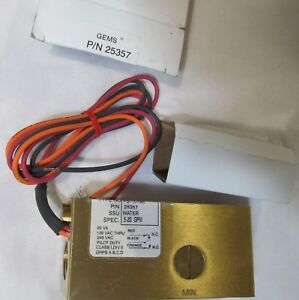 New Gems 25357 Inline Water Brass Flow Switch Fs 10798