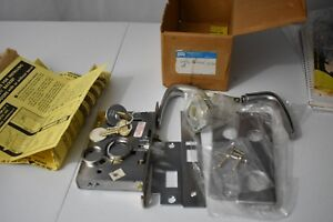 New Corbin Russwin Mortise Lock lock Cylinder Handles And Face Plates 201b 233n