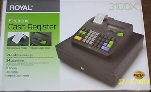 New In Box Royal 310dx Cash Register 2000 Plus 10 Clerks 24 Departments