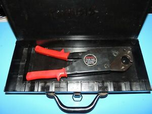 Burndy Our840 Hytool Hand Ratchet Criimping Crimper Electrical Tool