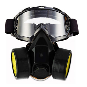 Dual Anti dust Respirator Mask And Glasses Spray Paint Industrial Chemical Gas