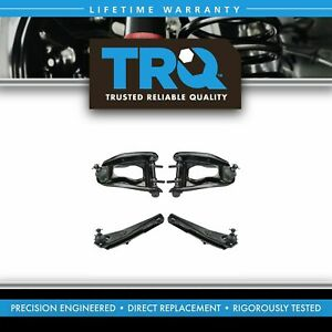 Trq Front Upper Lower Control Arm Ball Joint Suspension Kit Set 4pc For Mustang