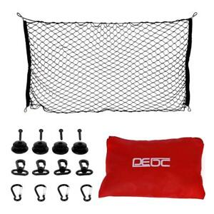 65x27 5in Car Cargo Net With Carabiner For Truck Pickup Suv Car Dog Barrier Net