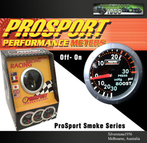 Prosport 2 52mm Oil Temp Meter Gauge Smoke Series