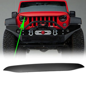 For Jeep Wrangler Jk 07 17 Nighthawk Light Brow Angry Front Grille Look Black