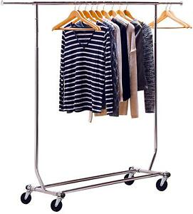 Decobros Supreme Commercial Grade Clothing Garment Rack Chrome