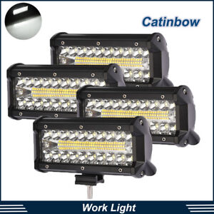 4x 7inch 500w Cree Led Work Light Bar Spot Flood Combo Beam Reverse Driving Lamp