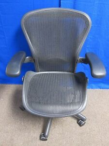 Herman Miller Aeron Mesh Office Chair Medium B Adjustable Ergonomic