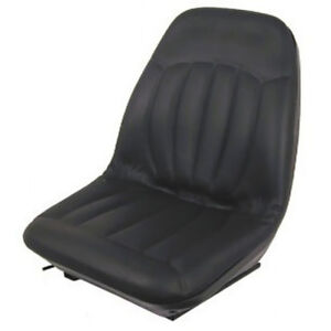 Black Seat With Tracks 6669135 Fits Bobcat 463 542 641 653 742 763 773 853 943