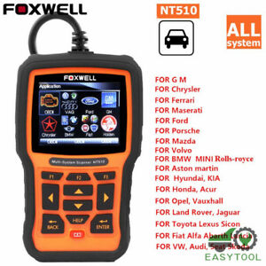 Foxwell Nt510 Full System Obd Obd2 Scanner Abs Srs Airbag Sas At Epb Dpf Reset