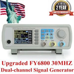 Upgraded Fy6800 30mhz Dual channel Arbitrary Waveform Source Signal Generator Us