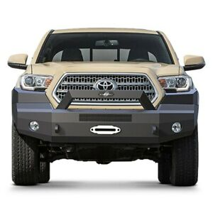 For Toyota Tacoma 16 17 Bumper Elevation Series Bull Nose Full Width Black Front