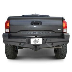 For Toyota Tacoma 16 17 Elevation Series Full Width Black Rear Hd Bumper