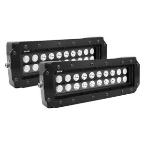 Grille Guard Mounted Hdx B Force 10 2x60w Dual Row Combo Beam Led Light Bars
