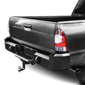 For Toyota Tacoma 05 15 Heavy Duty Series Full Width Black Rear Hd Bumper