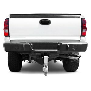 For Chevy Silverado 2500 Hd 03 06 Bumper Heavy Duty Series Full Width Black Rear
