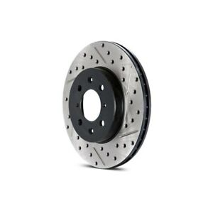 For Subaru Impreza 04 Brake Rotor Sport Drilled Slotted Vented 1 piece Front