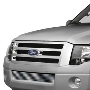 For Ford Expedition 07 14 1 Pc Silver Hairline Horizontal Billet Bumper Grille