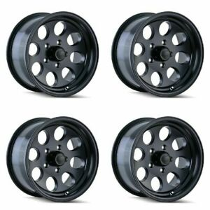 Set 4 17 Ion 171 Black Wheels 17x9 5x5 0mm Jeep Wrangler Chevy Gmc 5 Lug Truck