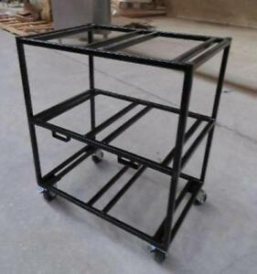 Fountain Soda Box Syrup Rack Cart Heavy Duty Wheels Mobile Casters