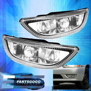 2001 2002 Corolla Toyota Clear Lens Fog Lights Assembly Pair Bumper Lamp Le S Ce
